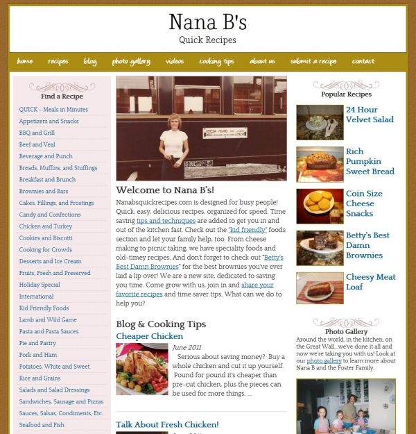 Nana B's Quick Recipes